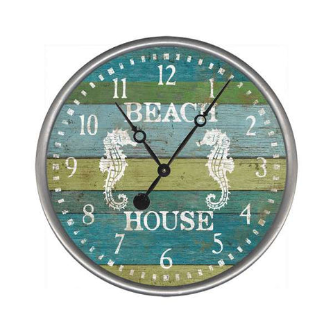 Seacliff Beach House Clock - By the Sea Beach Decor