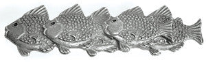 School of Fish Beach Decor Cabinet Handle, Left - By the Sea Beach Decor