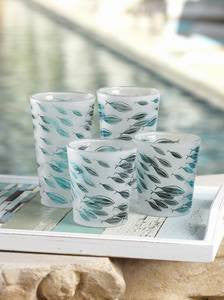Coastal Glassware Blue Fin