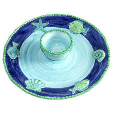 Ocean Chip & Dip Coastal Serving Platter, The Mane Lion - By the Sea Beach Decor