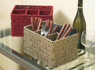 Seagrass Beach Decor Utensil Caddy
