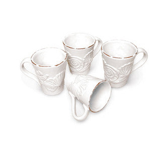 Sanibel Shell Relief Beach Decor Mug Set - By the Sea Beach Decor