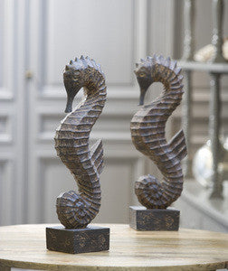 Seahorse Sculpture - By the Sea Beach Decor