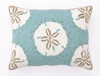 Destin Sand Dollars Oblong Pillow - By the Sea Beach Decor