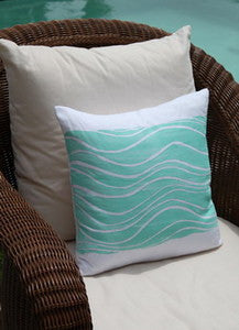 Magens Bay Waves Pillow - By the Sea Beach Decor