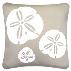 White Sand Dollars Beach Decor Pillow