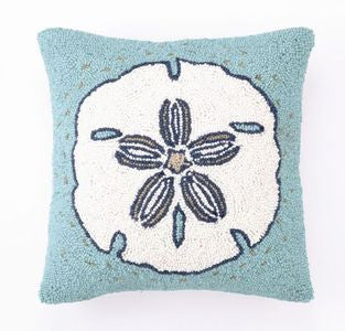 Destin White Sand Dollar Hook Pillow - By the Sea Beach Decor
