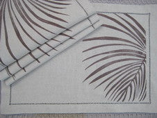 Palm Frond Beach Decor Placemats and Napkins