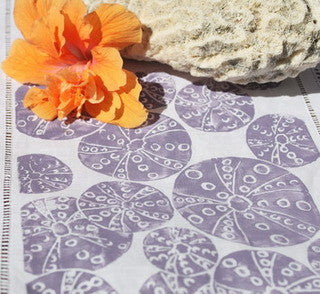Lavender Mist Beach Decor Sea Urchin Table Runner