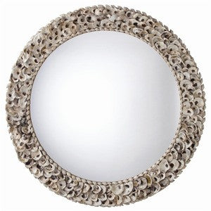 Kipling Beach Decor Oyster Shell Mirror - By the Sea Beach Decor