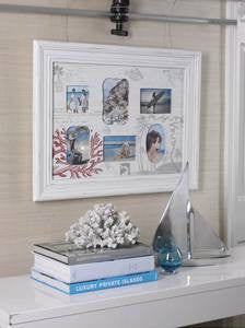 Largo Six Opening Coastal Decor Wooden Frame - By the Sea Beach Decor