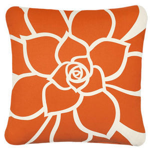 Orange Rosette Pillow - By the Sea Beach Decor