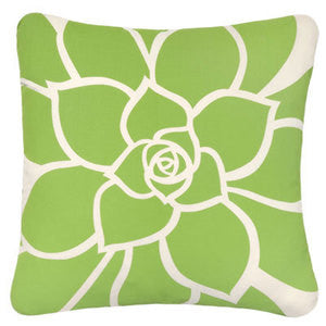 Green Rosette Floral Pillow - By the Sea Beach Decor