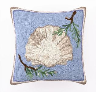 Beach Christmas Holiday Seashell Hook Pillow