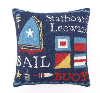 Sail II Coastal Decor Hook Pillow