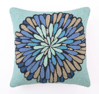 Cobalt Blue Bloom Hook Pillow - By the Sea Beach Decor