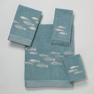 Nantucket Coastal Decor Bath Towel Set - By the Sea Beach Decor