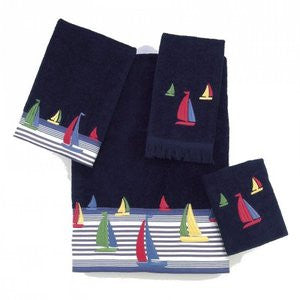 Regatta Fingertip Towels - By the Sea Beach Decor
