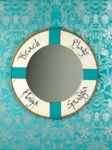 On the Beach Wall Mirror - By the Sea Beach Decor