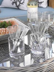 Coastal Flatware Clear Handle Cocktail Forks
