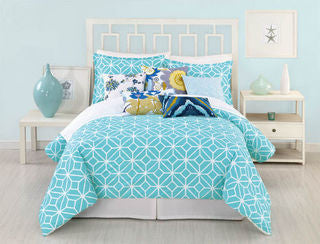 Palm Spring Block Bedding Set - By the Sea Beach Decor