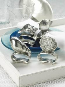 Sea Icon Coastal Decor Napkin Ring Set