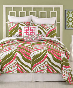 Tiger Leaf Twin Coverlet & Shams - By the Sea Beach Decor