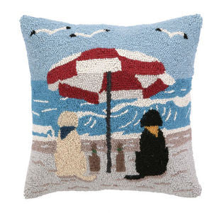 Rover Island Beach Labs Hook Pillow - By the Sea Beach Decor