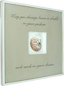 Quote Box Nautilus Coastal Decor Artwork