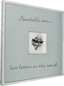 Black Murex Shell Quote Box Coastal Decor Artwork