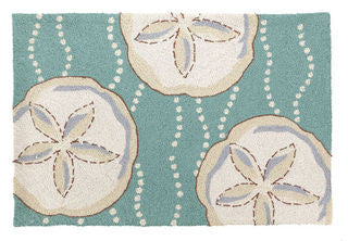 Sand Dollar Hook Throw Rug - By the Sea Beach Decor