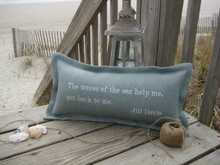 Waves of the Sea Beach Throw Pillow