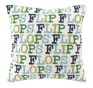 Flip Flops Hook Pillow - By the Sea Beach Decor