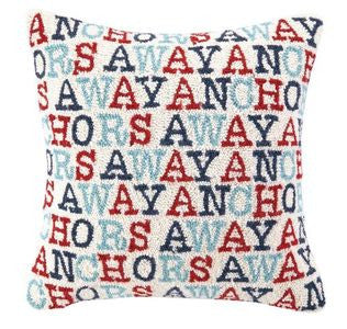 Anchor's Away Hook Pillow - By the Sea Beach Decor