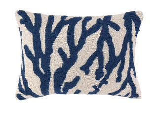 Coastal Pillow Blue Sea Reef Coral Oblong