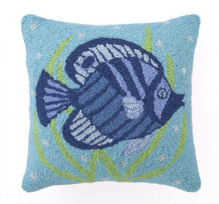 Fun Fish I Hook Pillow - By the Sea Beach Decor