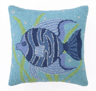 Fun Fish II Coastal Decor Throw Pillow
