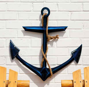 Anchor Metal & Glass Coastal Wall Decor