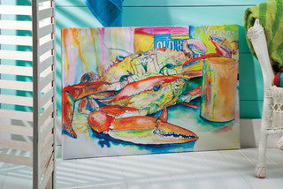 Crab Dinner Canvas - By the Sea Beach Decor