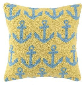 Anchors Hook Pillow - By the Sea Beach Decor