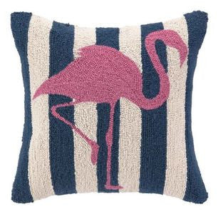 Flamingo Hook Pillow - By the Sea Beach Decor