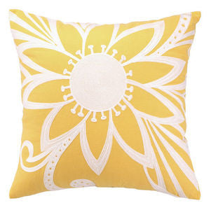 Calypso Soleil Crewel Pillow - By the Sea Beach Decor