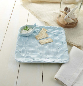 Burlap Fish Chip & Dip Platter - By the Sea Beach Decor