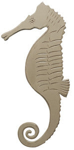 Wooden Seahorse Brown - By the Sea Beach Decor