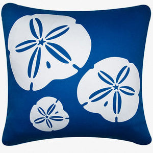 Oceanside Blue Sand Dollar Pillow - By the Sea Beach Decor