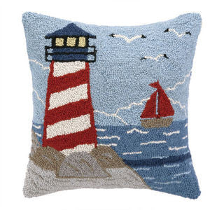Lighthouse Coastal Decor Hook Pillow