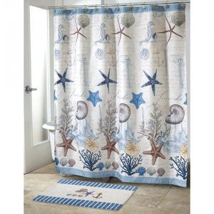 Antigua Coastal Decor Shower Accessories - By the Sea Beach Decor