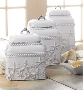 Starfish Coastal Kitchen Canister Set
