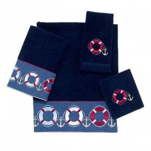 Life Preserver Navy Towel Collection - By the Sea Beach Decor