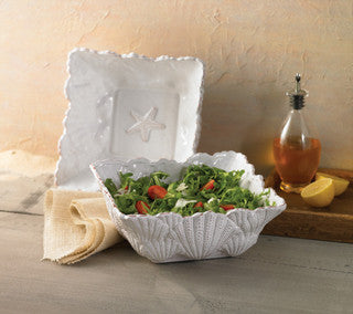 Beach Entertaining Embossed Shell Salad Bowl